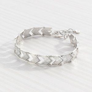 SILPADA Chevron Link Bracelet Sterling Silver